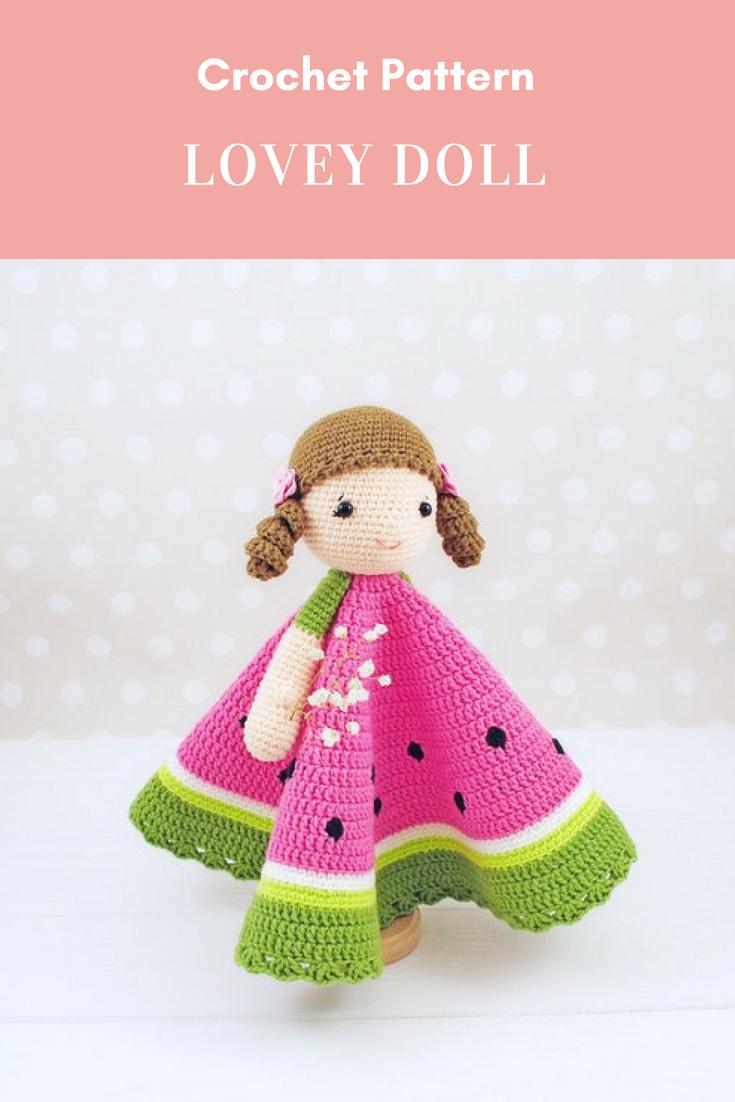 Lovey Doll Crochet Pattern Lovey Blanket Pdf Crochet Pattern
