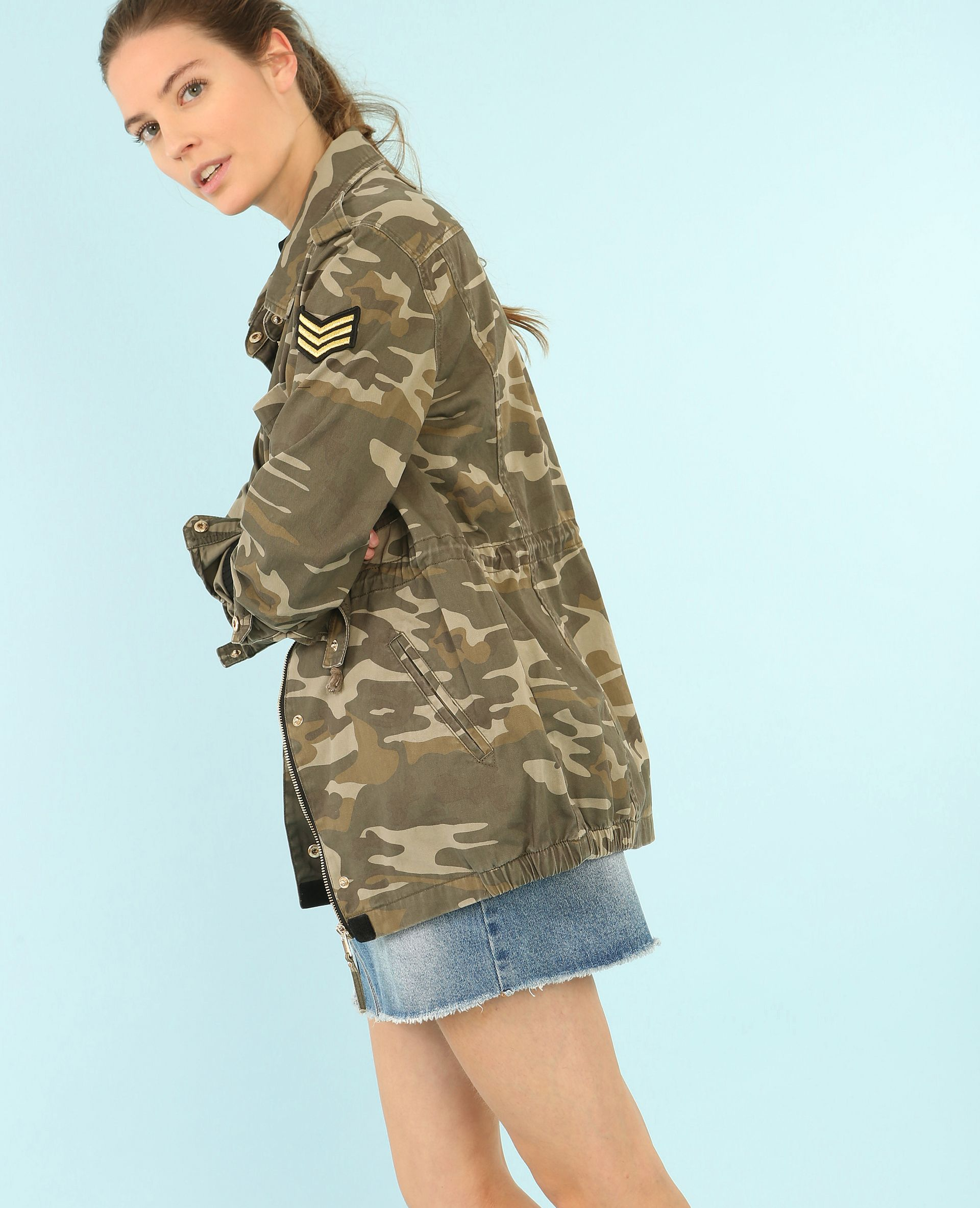 professional sale super cute sneakers for cheap Veste camouflage army - Mode camouflage activé avec la parka ...