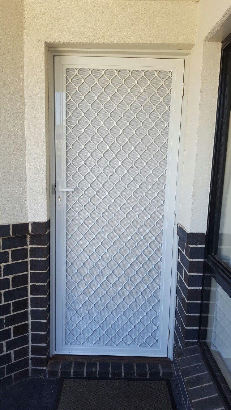 Dimond Grill And Dva Mesh Www Flyscreensaustralia Com Au Window Glass Design Metal Doors Design Steel Door Design