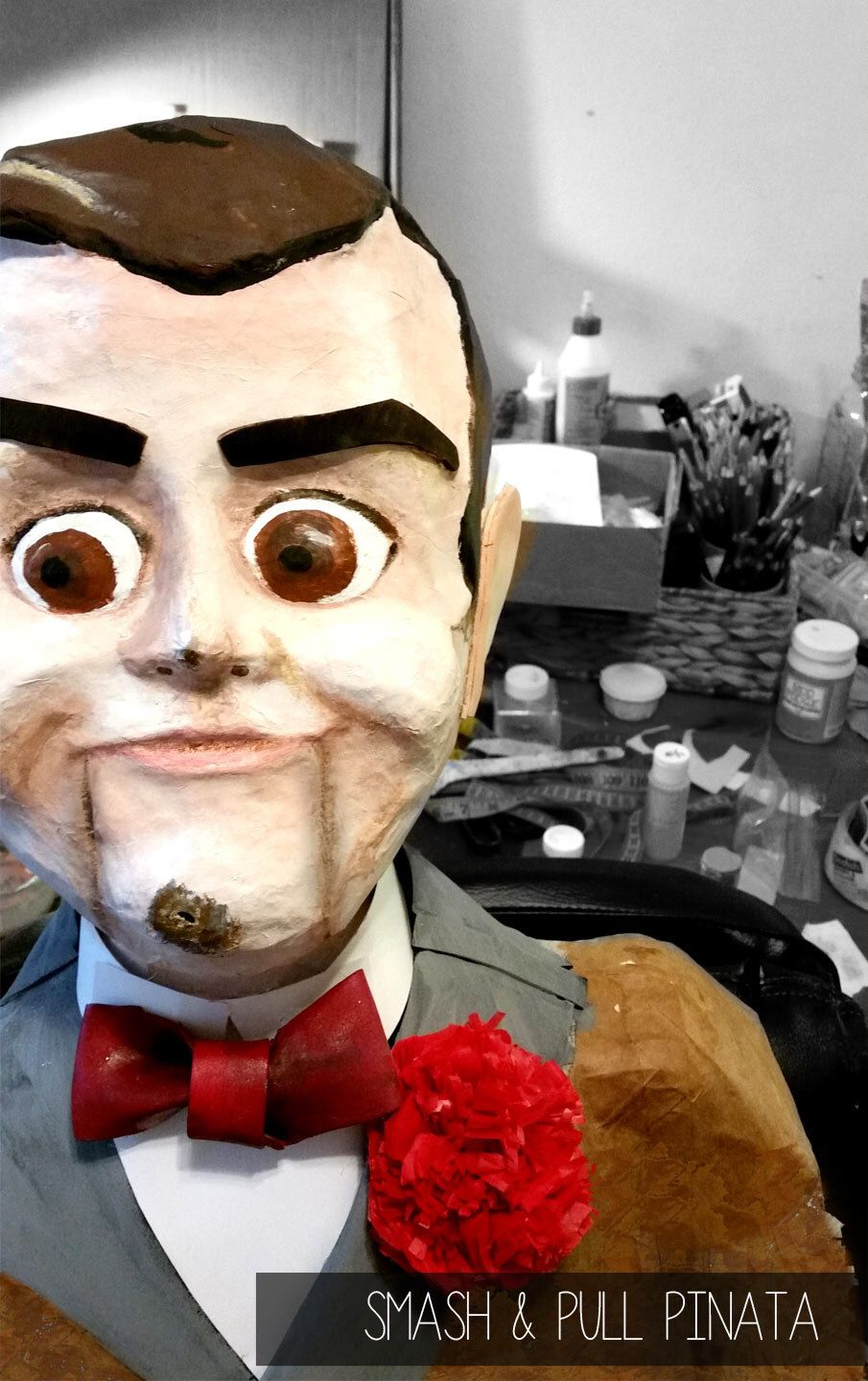 Birthday pinata ventriloquist dummy party guy 3d prop paper mache birthday pinata ventriloquist dummy party guy 3d prop paper mache doll creepy party decor haunted house ccuart Choice Image