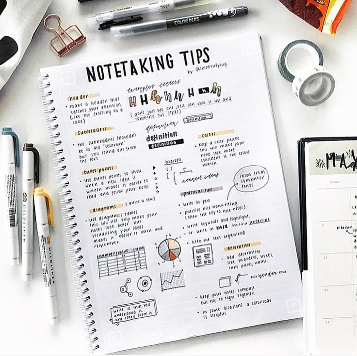 Note taking tips by @chloestudying ✍️✨ Swipe for Whitelines app scanned ve... - Pinspace #collageboard