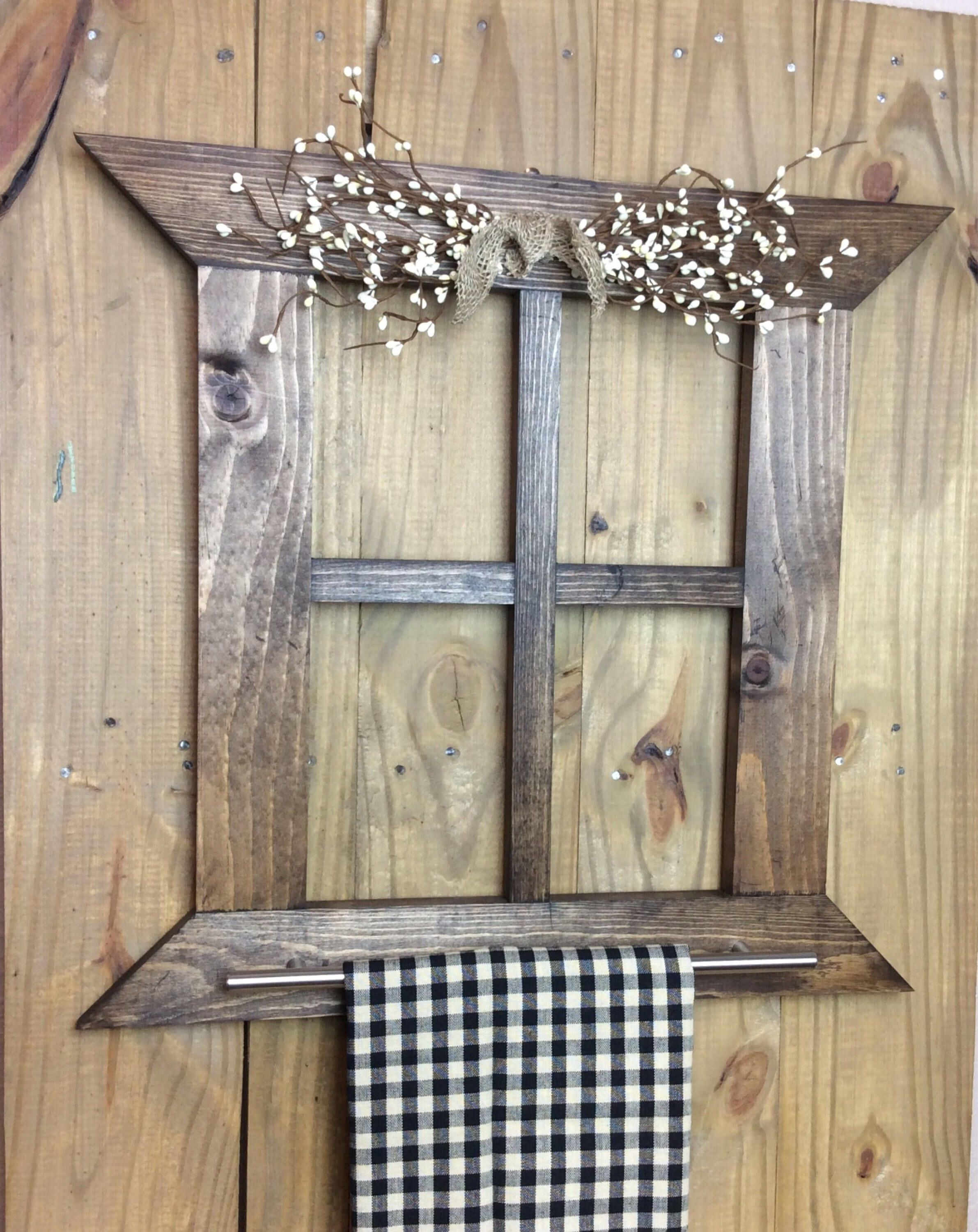 Rustic Hand Towel Holder Bathroom Primitive Country Home Decor Farmhouse Wall Kitchen Or By ShellyWCraftCorner On Etsy