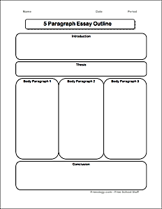 5 paragraph essay writing frame