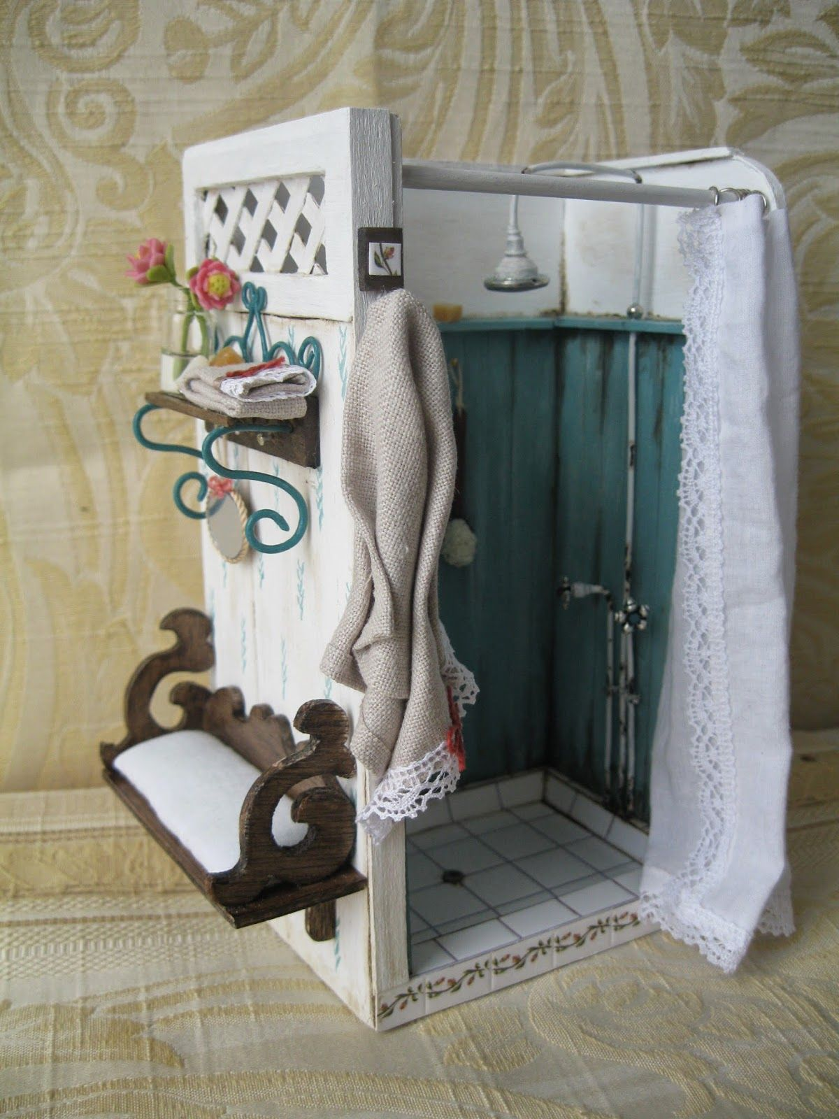 Shower On Miniature For Dollhouses Scale