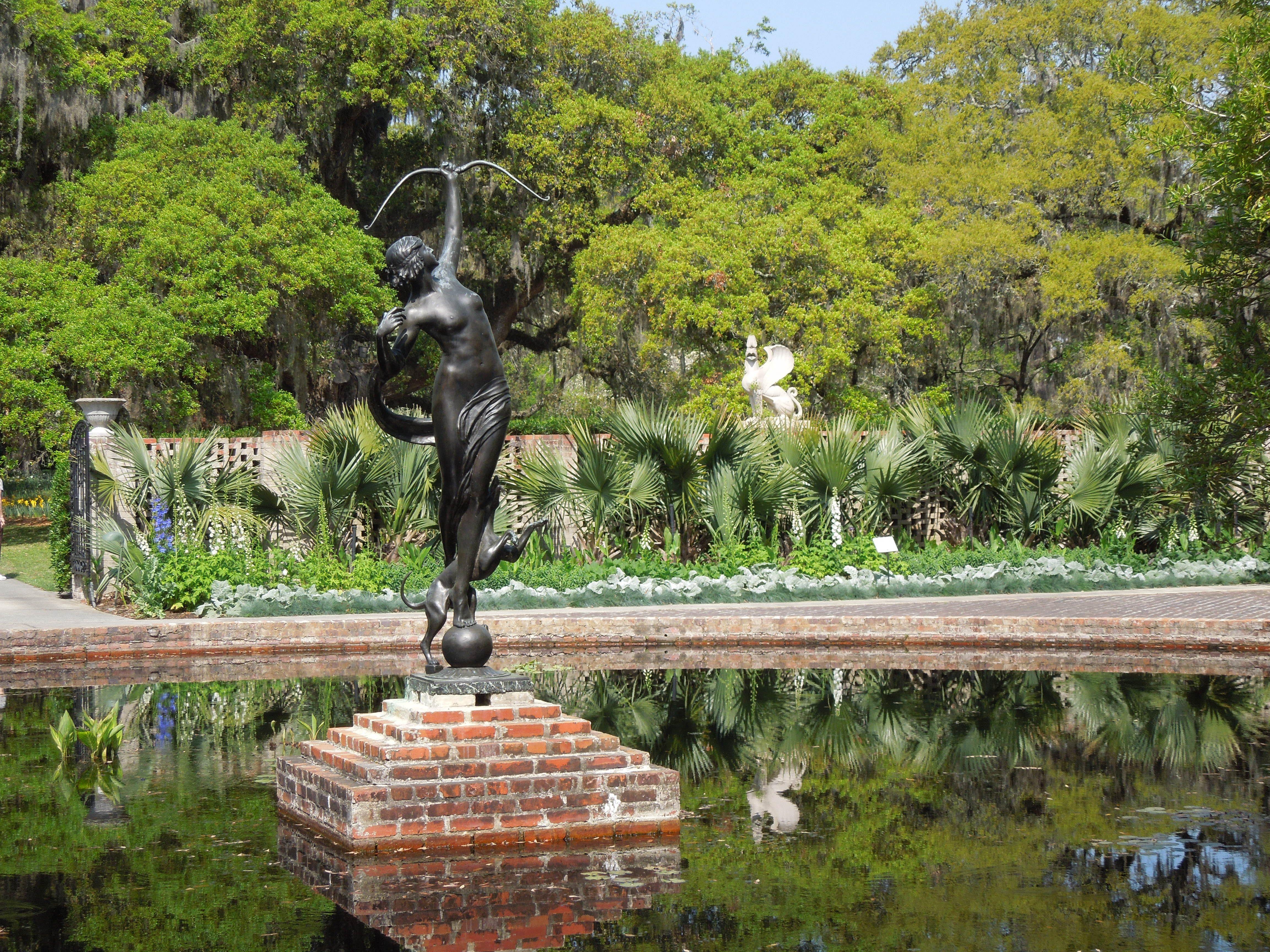 Part of the sculpture garden at Brookgreen Gardens in Pawleys Island ...
