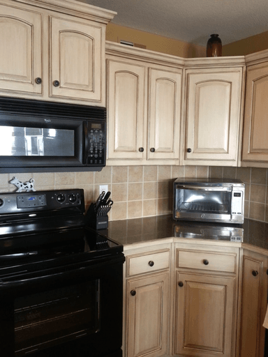 This is our most POPULAR painted cabinet finish ... a ...