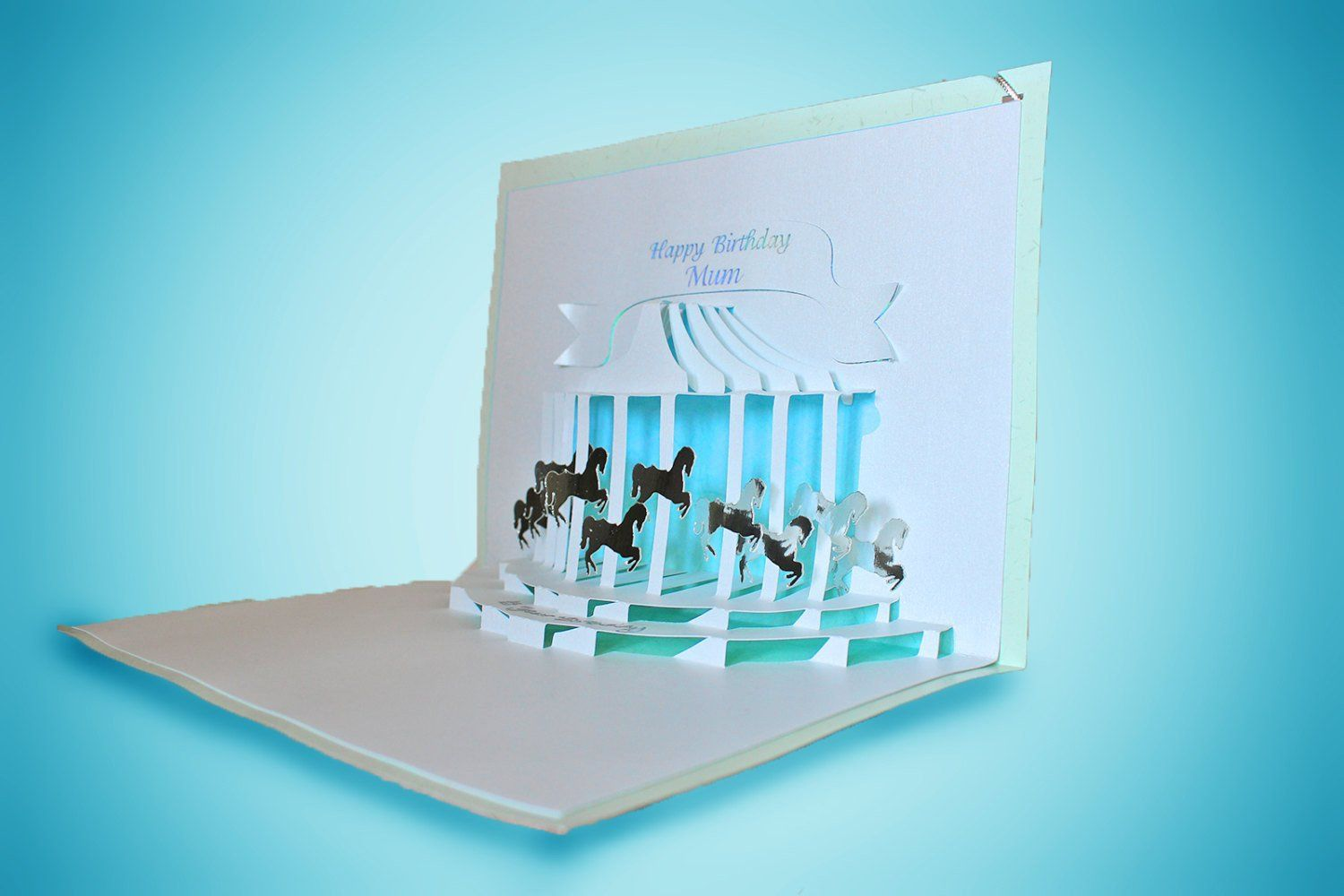 Pop Up Cards Templates Pony Carousel Pop Up Card Template Pop Up Card Templates Pop Up Cards Card Templates Free