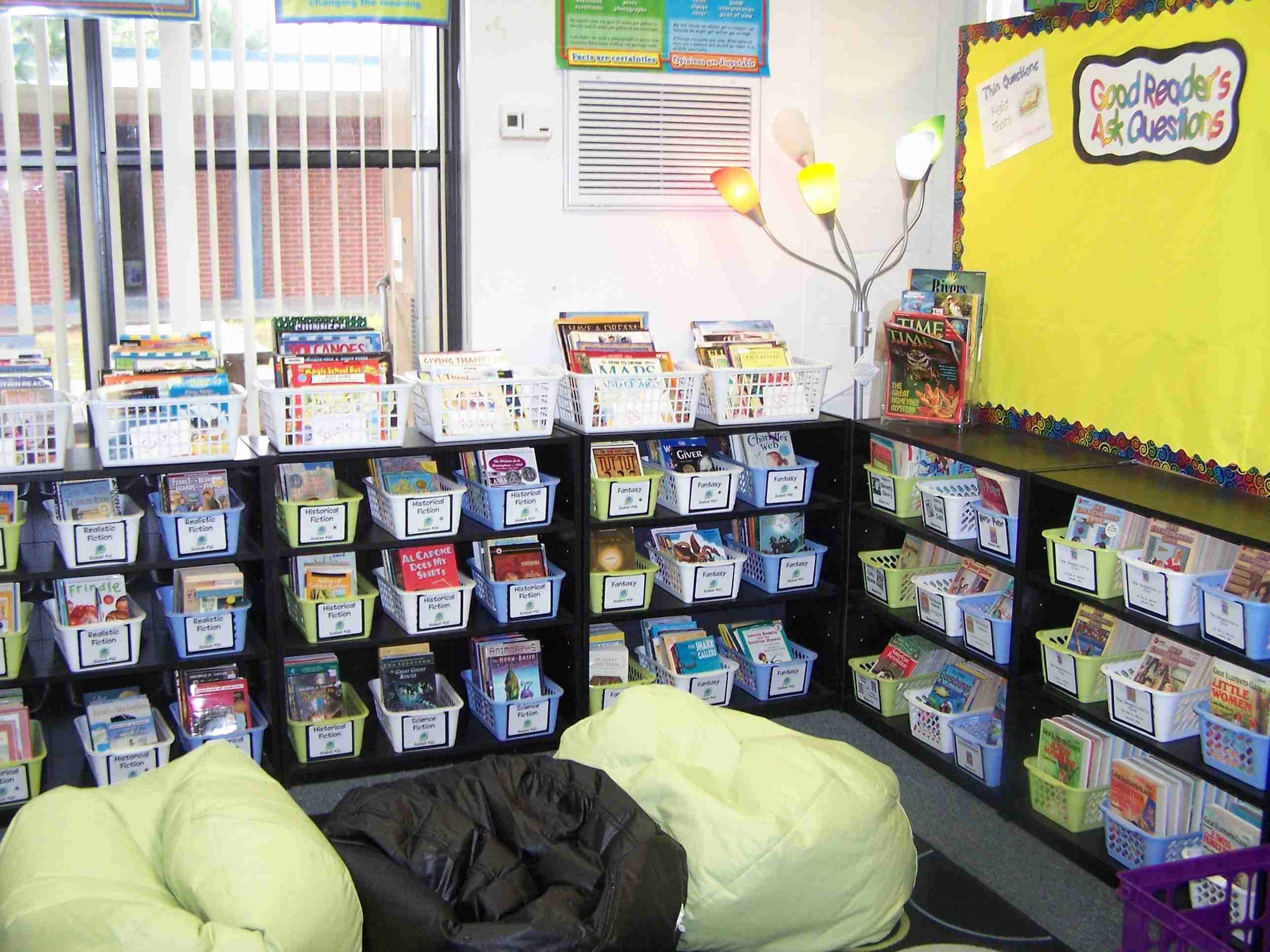 Classroom Design For Literacy : Creating an active literacy classroom class library