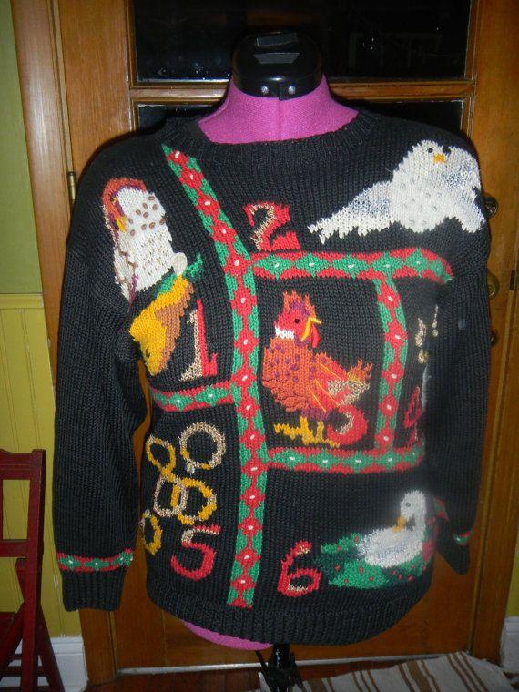 12 Days Of Christmas Ugly Tacky Sweater Size Medium Etsy Shop