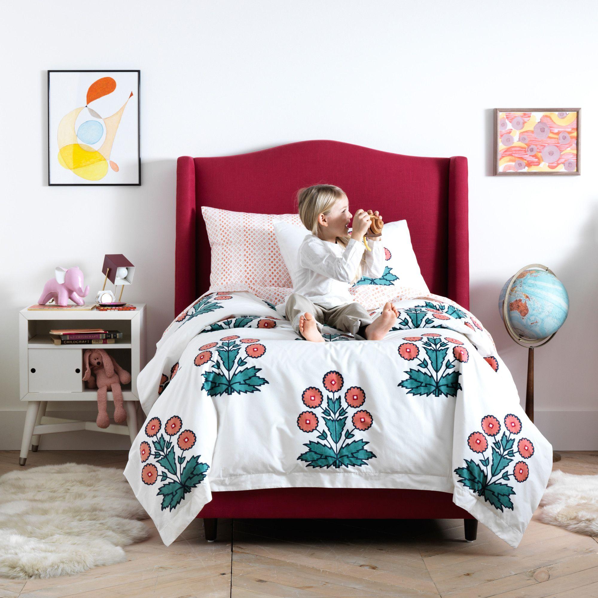 Daisy Block Print Duvet Cover Set Duvet sets, Dwell