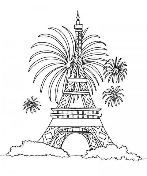 Eiffel Tower Coloring Pages For Kids Eiffel Tower Coloring Pages