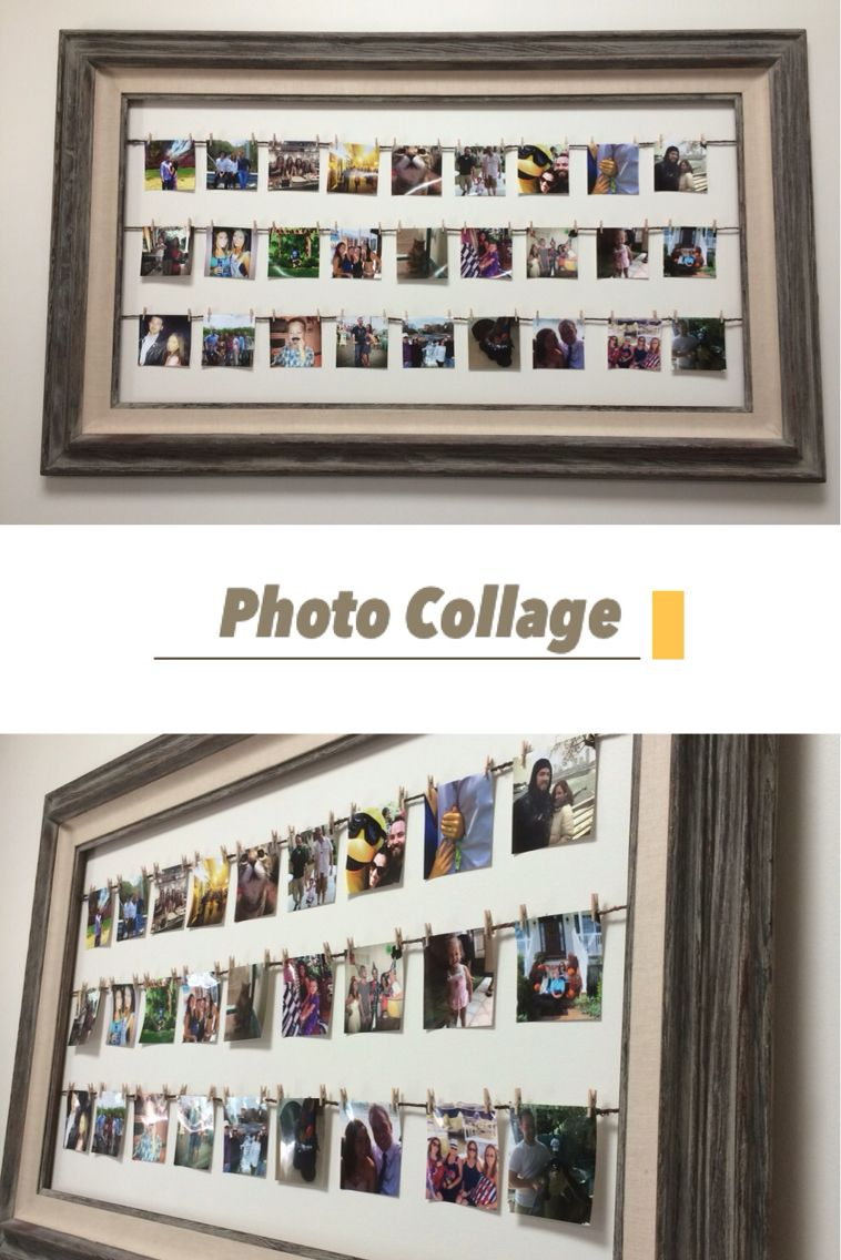 Great way to display 4x4 photos! I used a 3ft x 5ft picture frame ...