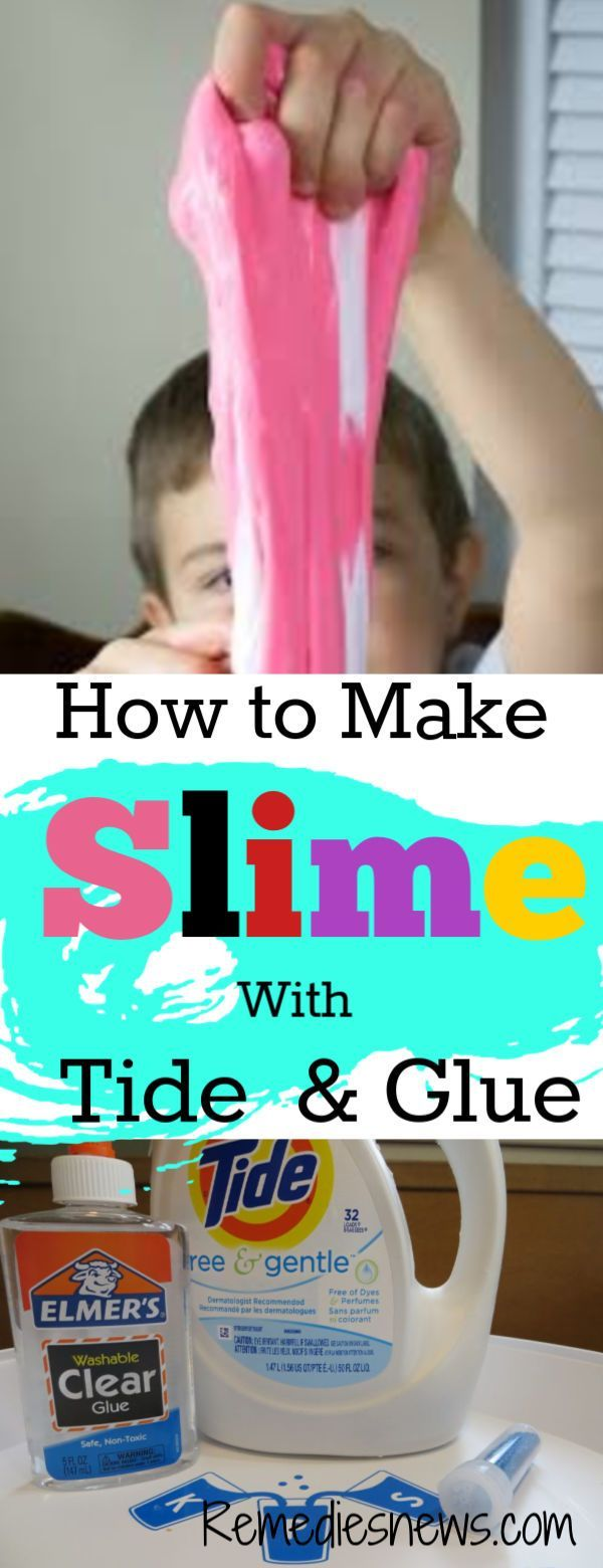 How To Make Slime With Laundry Detergent Tide And Glue Easy