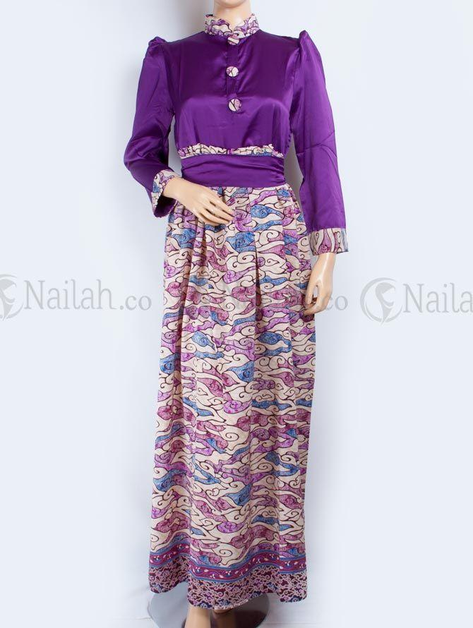 Gamis Pesta Batik Safiya Rp 209 000 Gamis Pesta Bermotif Batik Yang