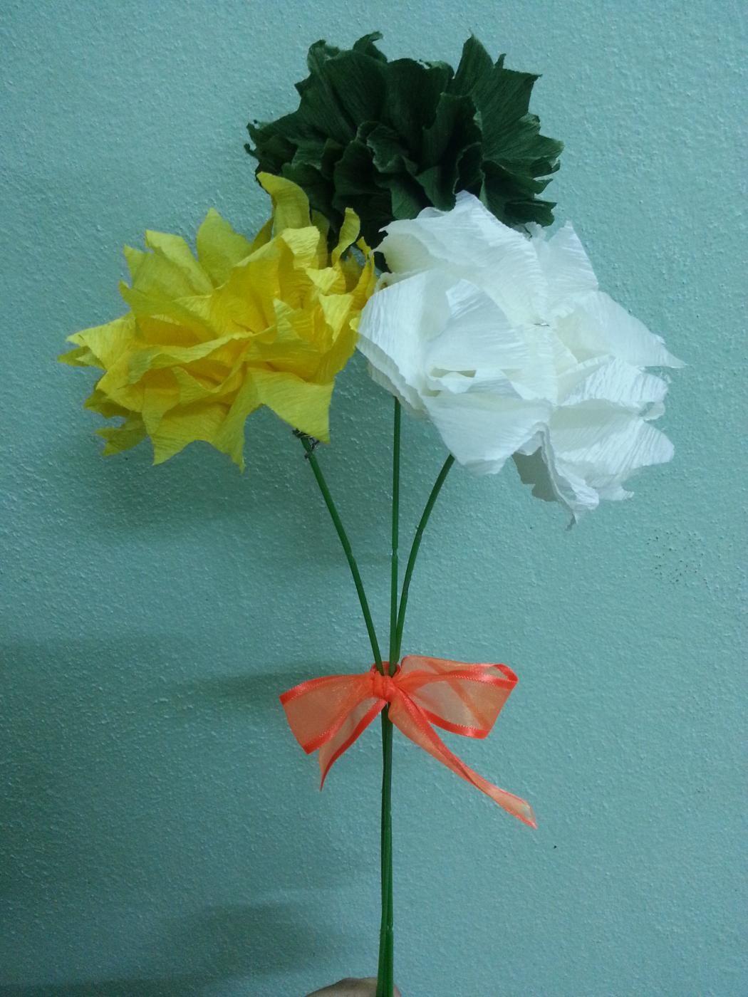 DIY Tissue Paper Flower Wedding Bouquet  Tissue paper Paper flower