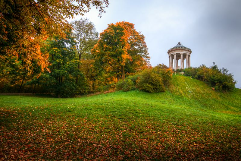 New Munich Englischer Garten Monopteros by alierturk deviantart photography