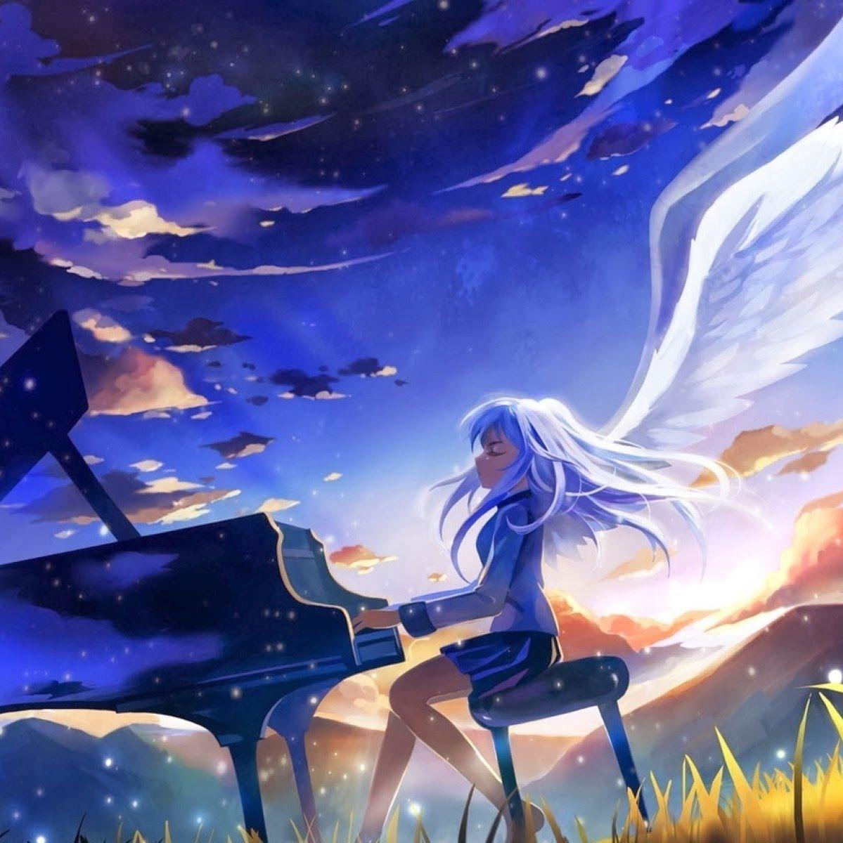 Angel Beat Angel Playing On Piano Anime Wallpaper Beats Wallpaper Angel Beats