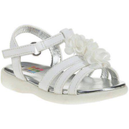 Healthtex Infant Girls' Dressy Sandal, Infant Girl's, Size: 3, White