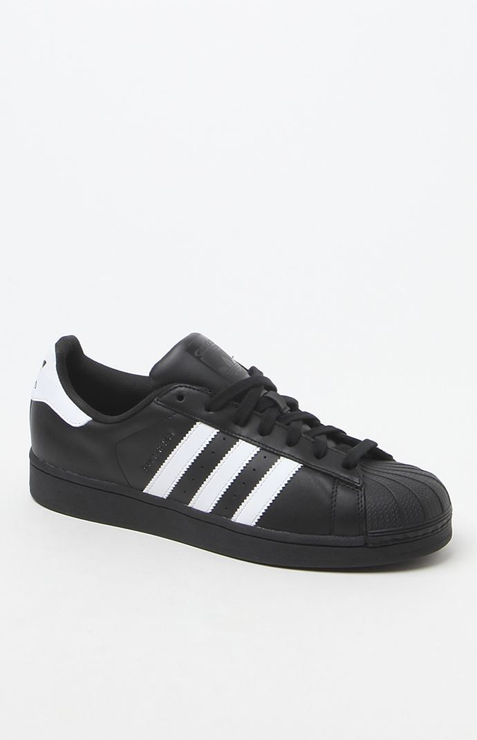 new style e50dd df175 Hooked on Superstar Low-Top Black   White Shoes that I found on the PacSun  App