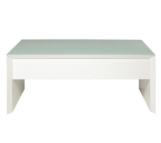 280 tables basses table basse relevable tommy blanc. Black Bedroom Furniture Sets. Home Design Ideas