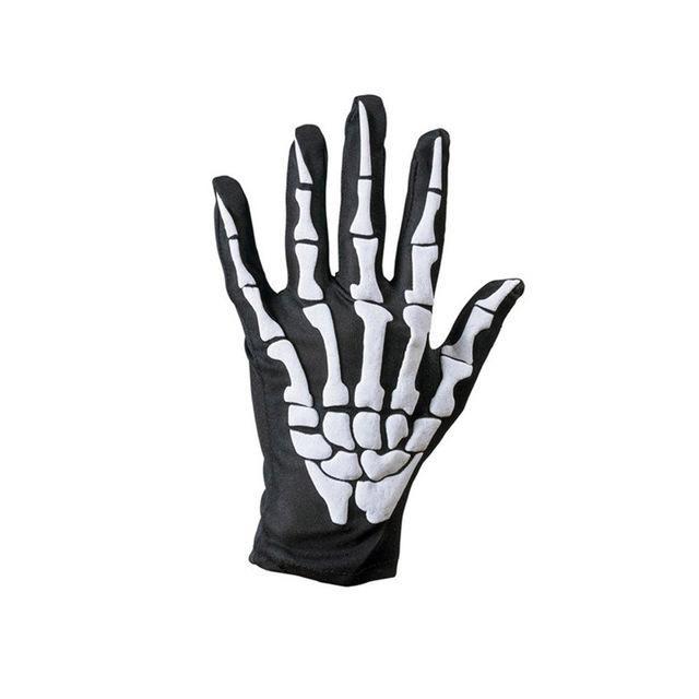 Cycling Motorcycle Racing Skeleton Goth Mechanics Skull Bone Full Finger