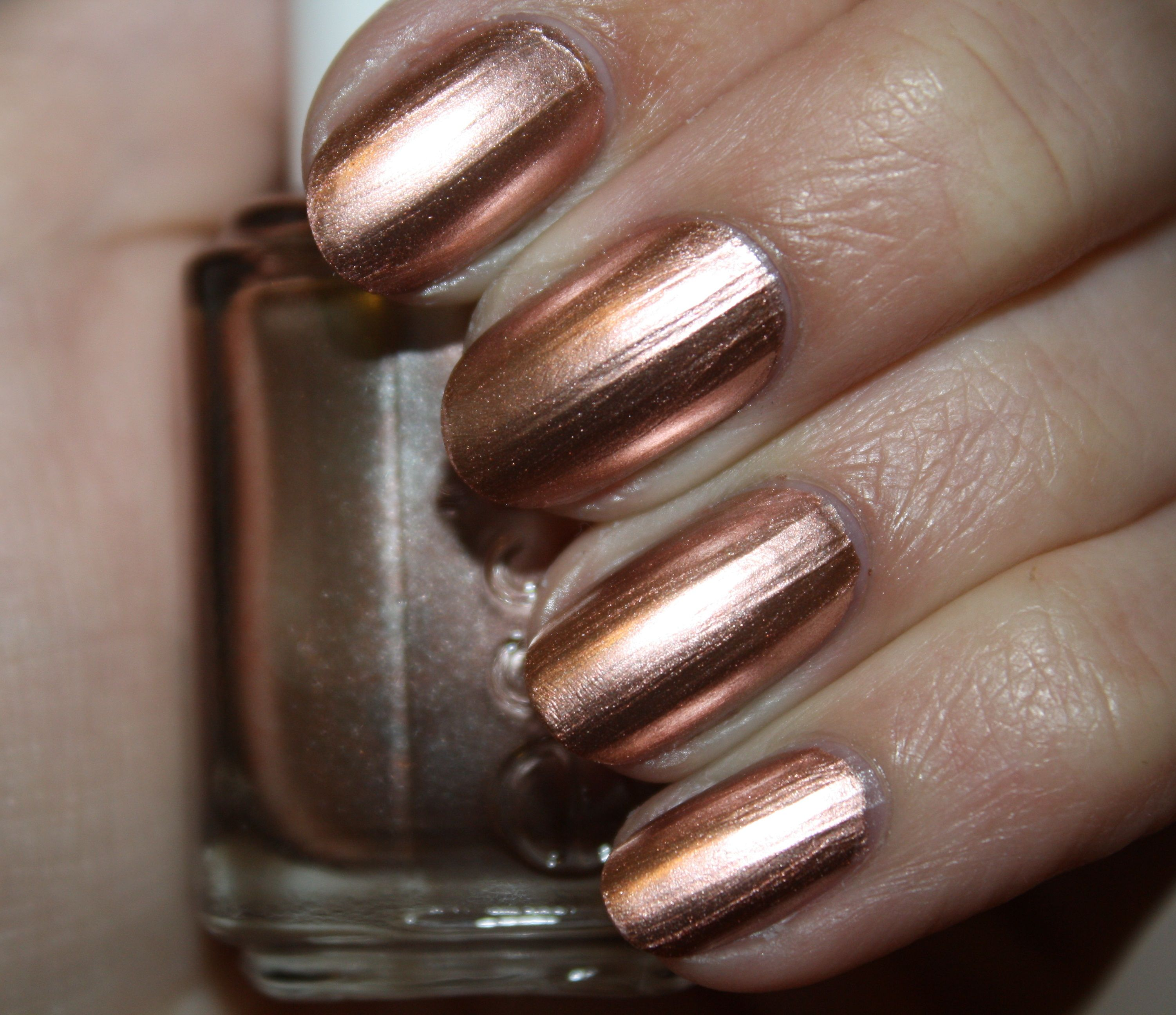 Essie Metallic Gold Nail Polish: Essie Penny Talk From The Mirror Metallic Collection, July