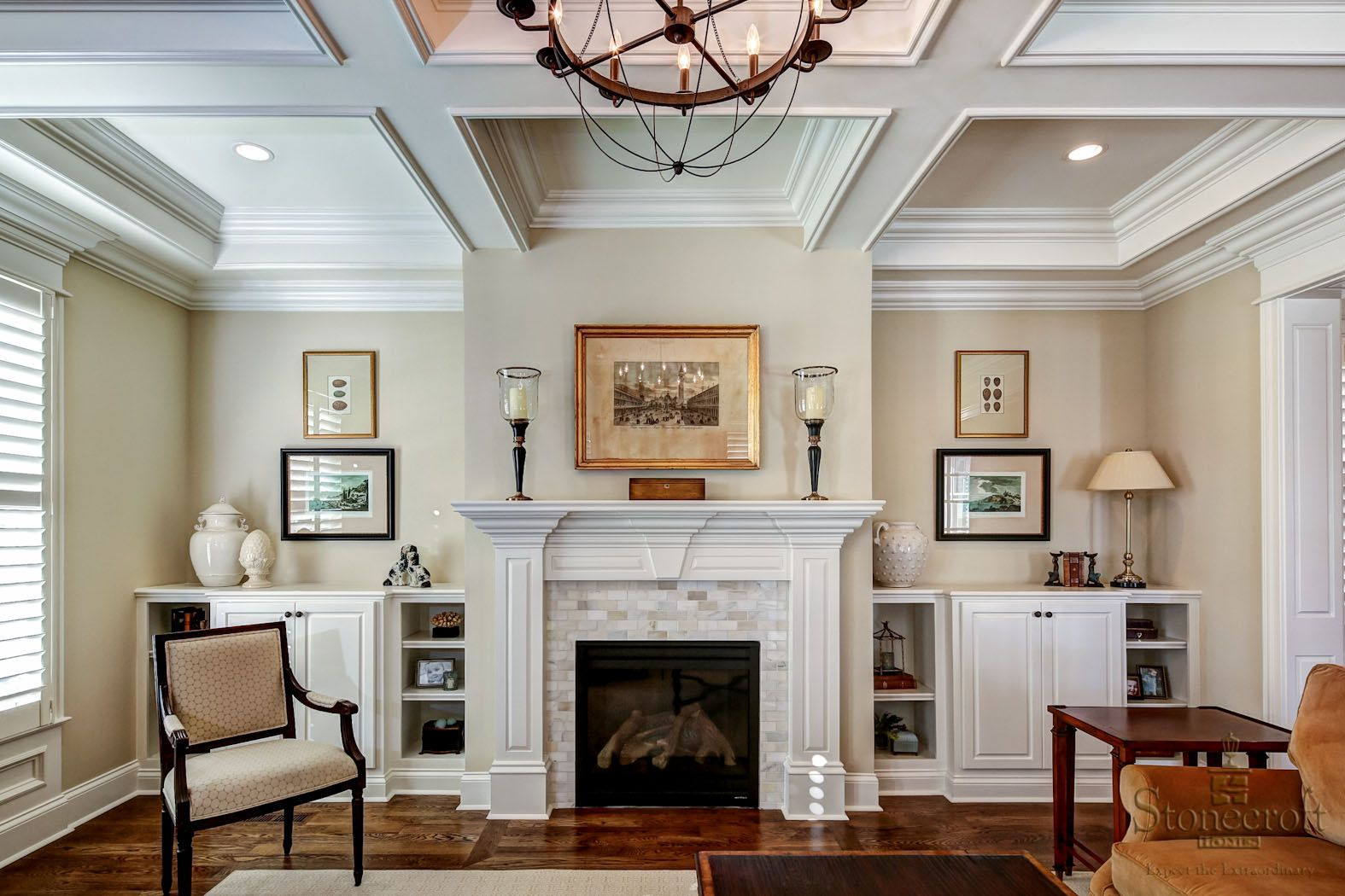 Stonecroft Homes  The Gq  Louisville Custom Builder  Mantle Best Interior Design Ideas For Living Rooms With Fireplace Inspiration