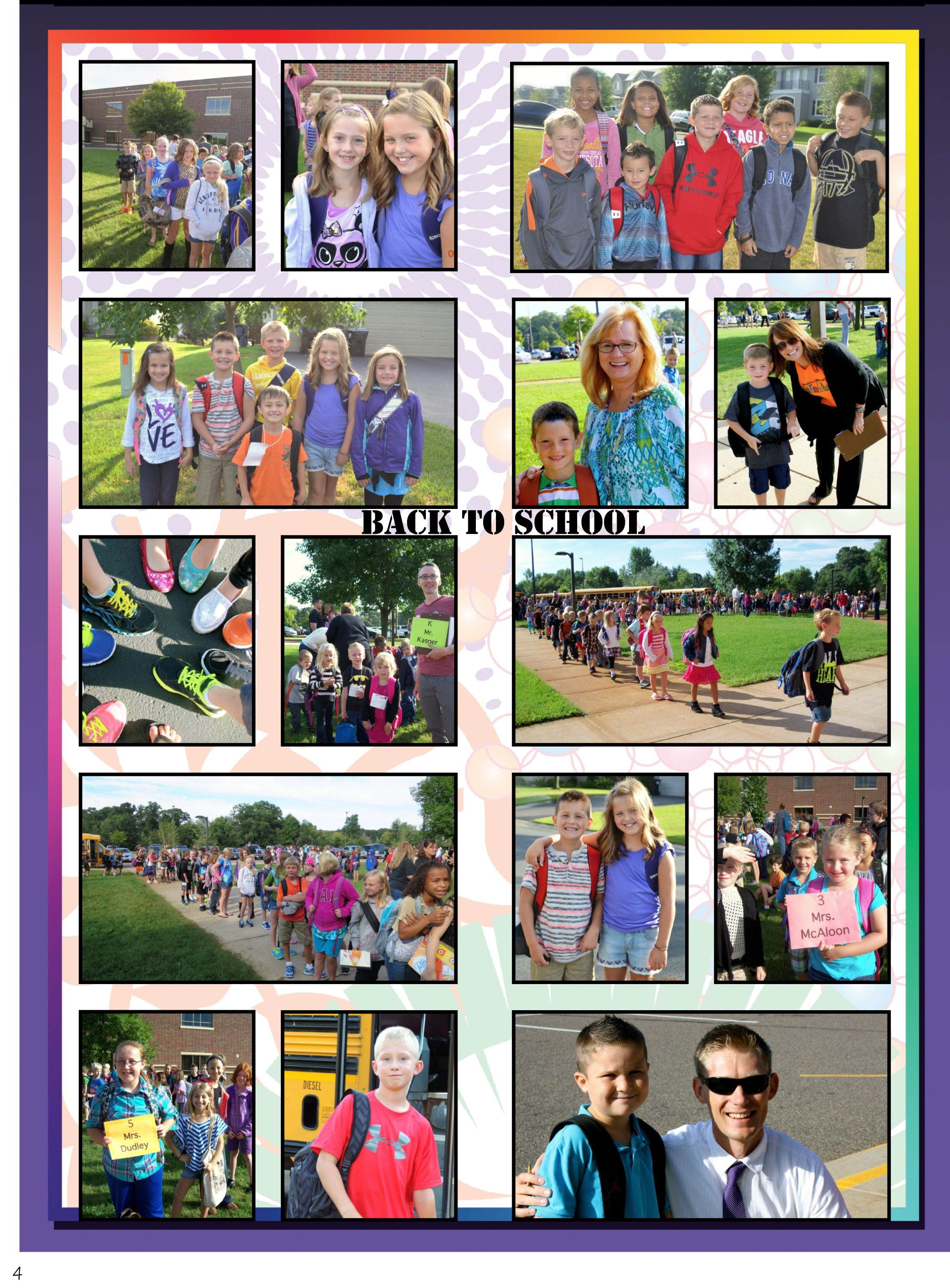 Scrapbook ideas school - Elementary School Yearbook Page With Candids On Same Page As Portraits Google Search