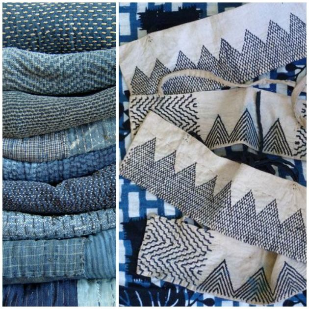 Sashiko Is An Old Form Of Hand Sewing Using Simple Running Stitches