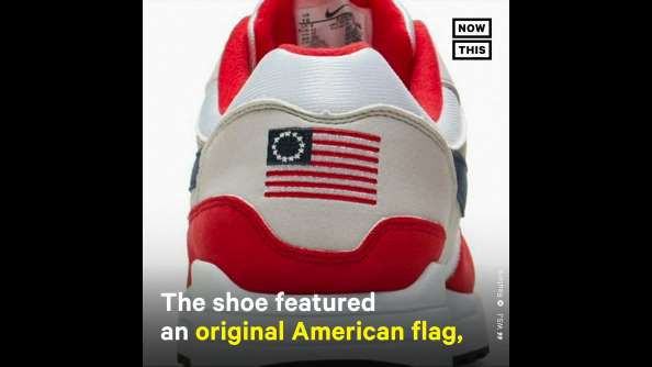 NIKE pulls 'racist' sneaker featuring US flag after colin