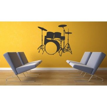 Musical Instruments Drums Music Wall Stickers Wall Art Decal | Lyric ...