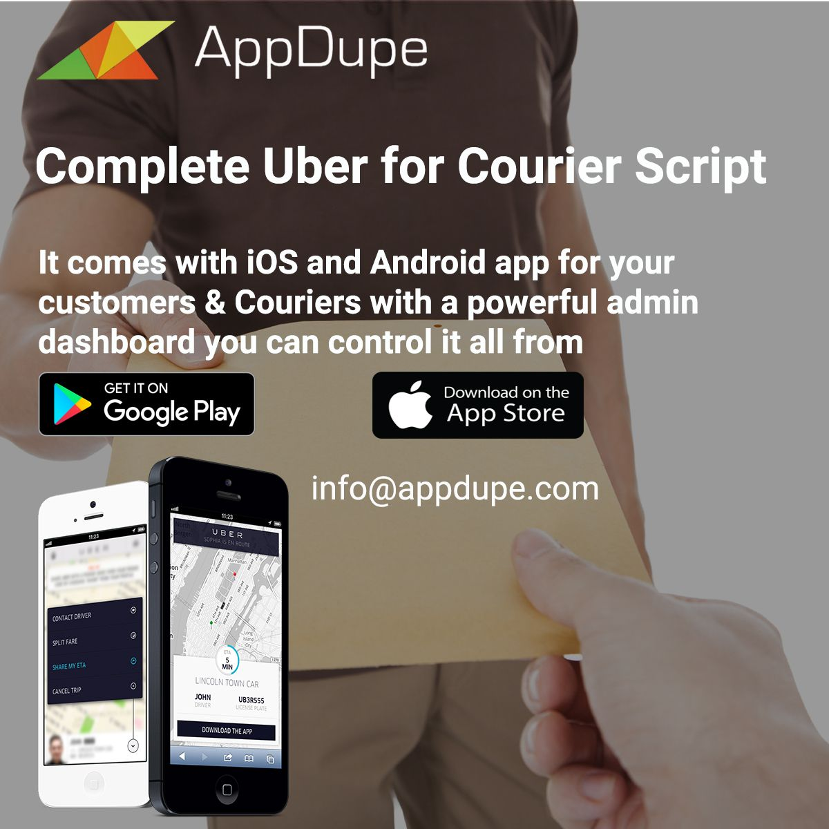 It comes with ios and android app for your customers