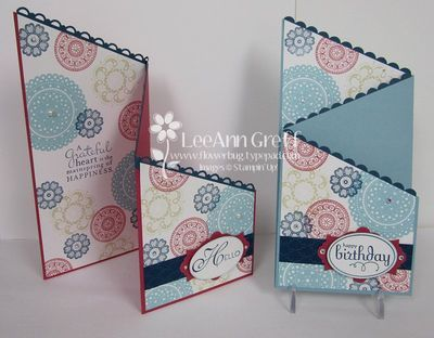 Tri-Fold Lovely  Lacy Tri fold, Folded cards and Card stock - Tri Fold Card