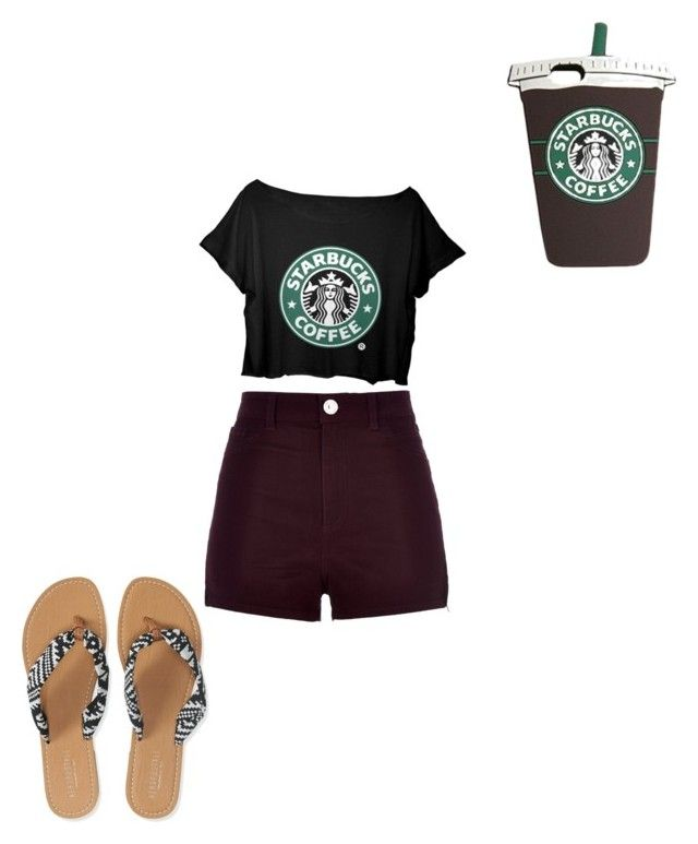 """""""Starbucks inspired outfit!!"""" by dancerlove7 ❤ liked on Polyvore"""