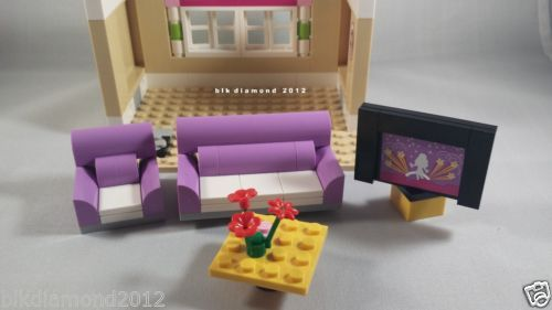 Lego Living Room Furniture Set Couch Chair Table Big Screen TV