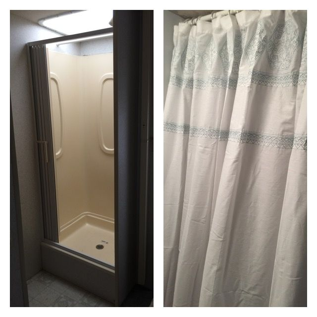 Took Out Accordion Door And Added A Shower Curtain