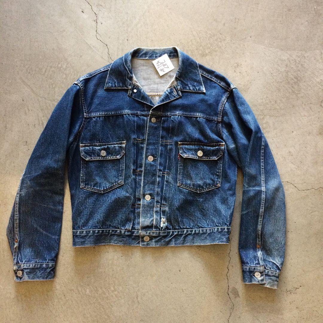 """1950's Levi's 507 Type 2 jacket, size M measures 23"""" pit"""