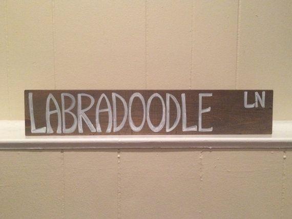 Street Sign Home Decor Alluring Labradoodle Lane Goldendoodle Reclaimed Wood Sign Handmade Dog Inspiration