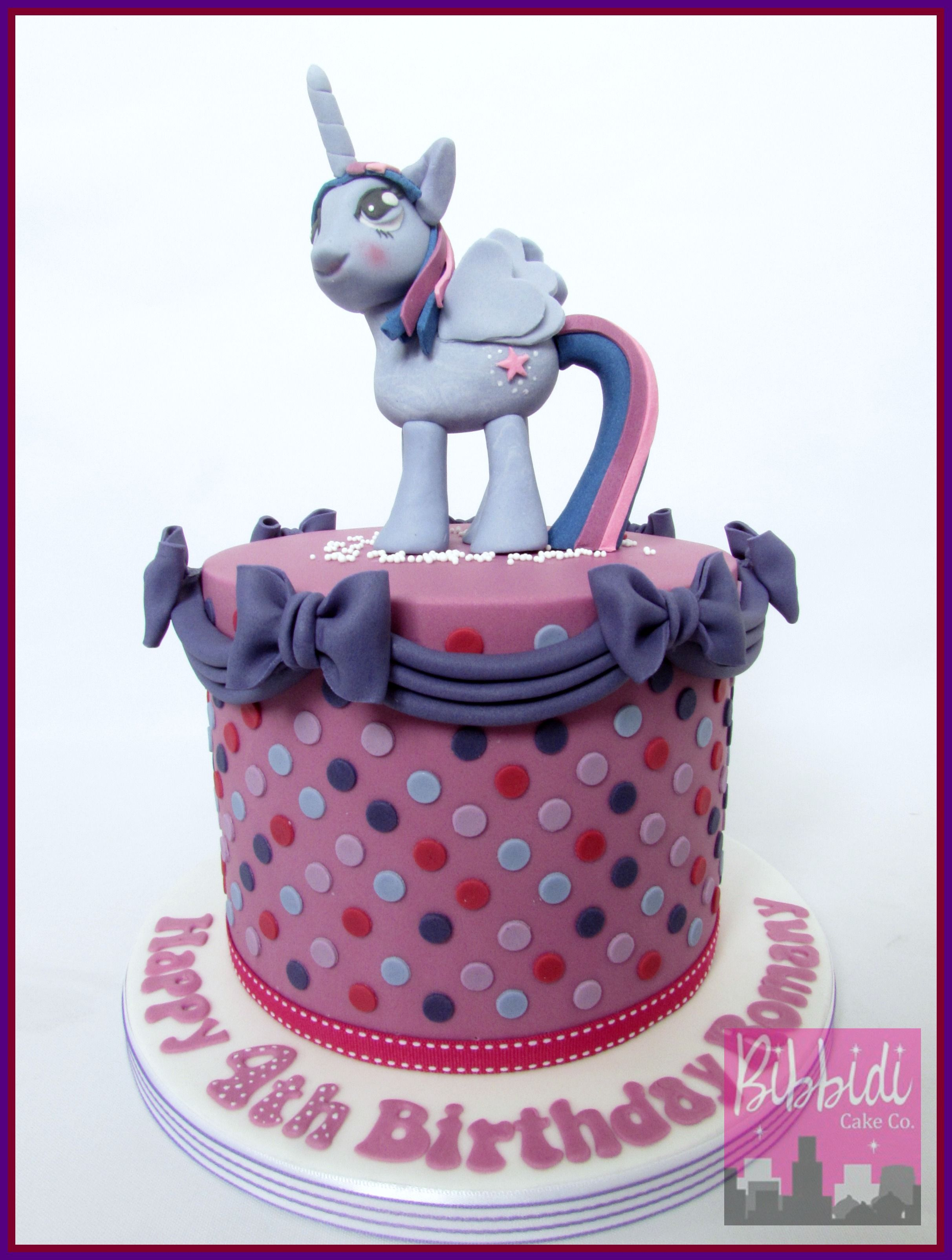 My Little Pony Twilight Sparkle Cake By Bibbidi Cake Co