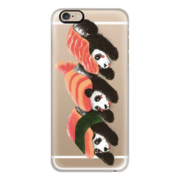 Sushi Panda Ghost - iPhone 6s Case,iPhone 6 Case,iPhone 6s Plus... (335 SEK) ❤ liked on Polyvore featuring accessories, tech accessories, phone cases, iphone case, slim iphone case, apple iphone cases, iphone cases, iphone cover case and clear iphone cases