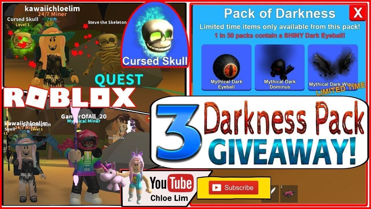 Roblox Mining Simulator 2x Candy 3 Darkness Pack - obby squads roblox codes