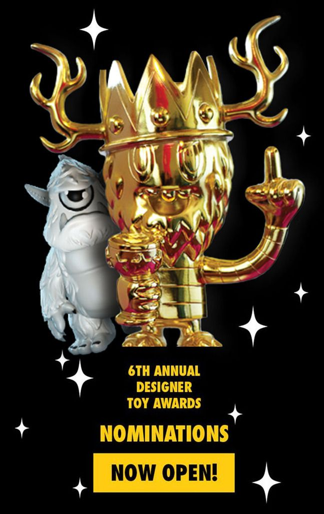 A few more days to nominate for the 2016 Designer Toy Awards!!!