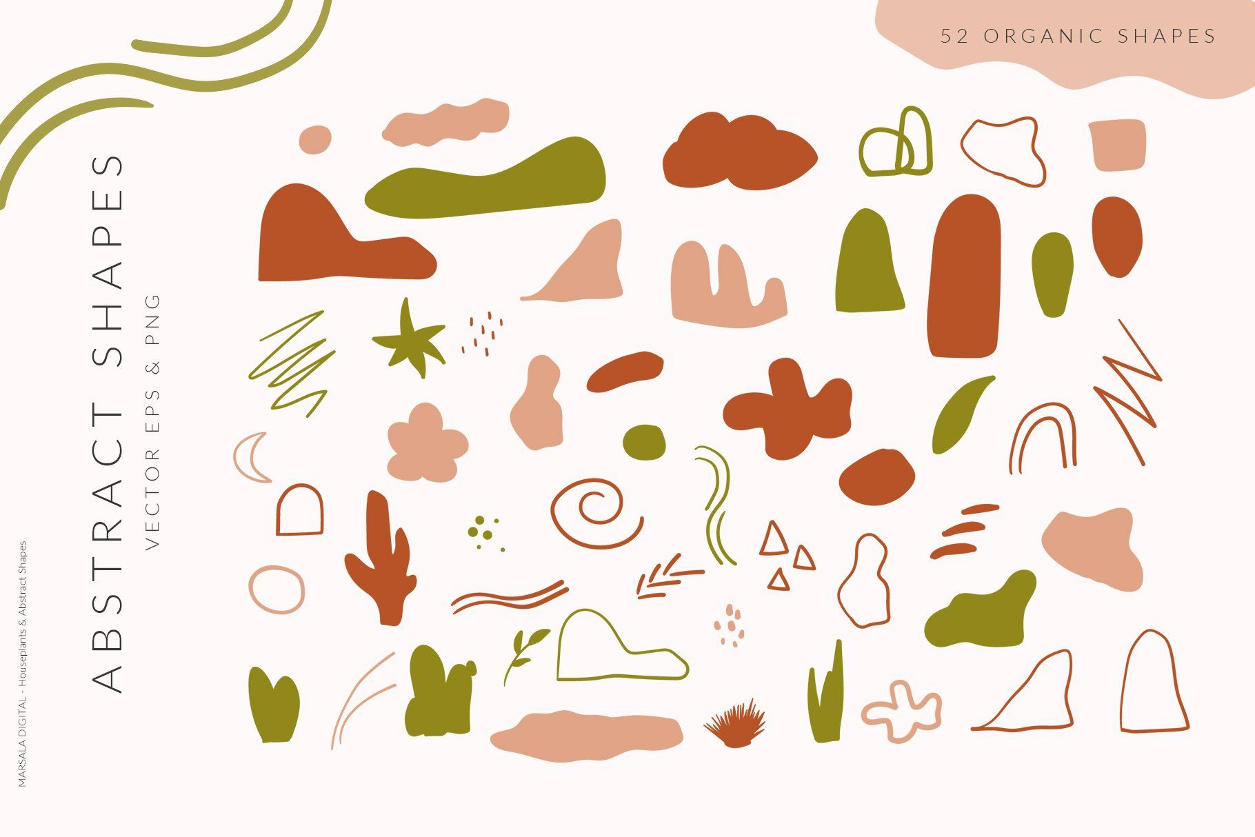 Abstract Shapes Houseplants Line Art Abstract Shapes Abstract Line Art Line Art Vector