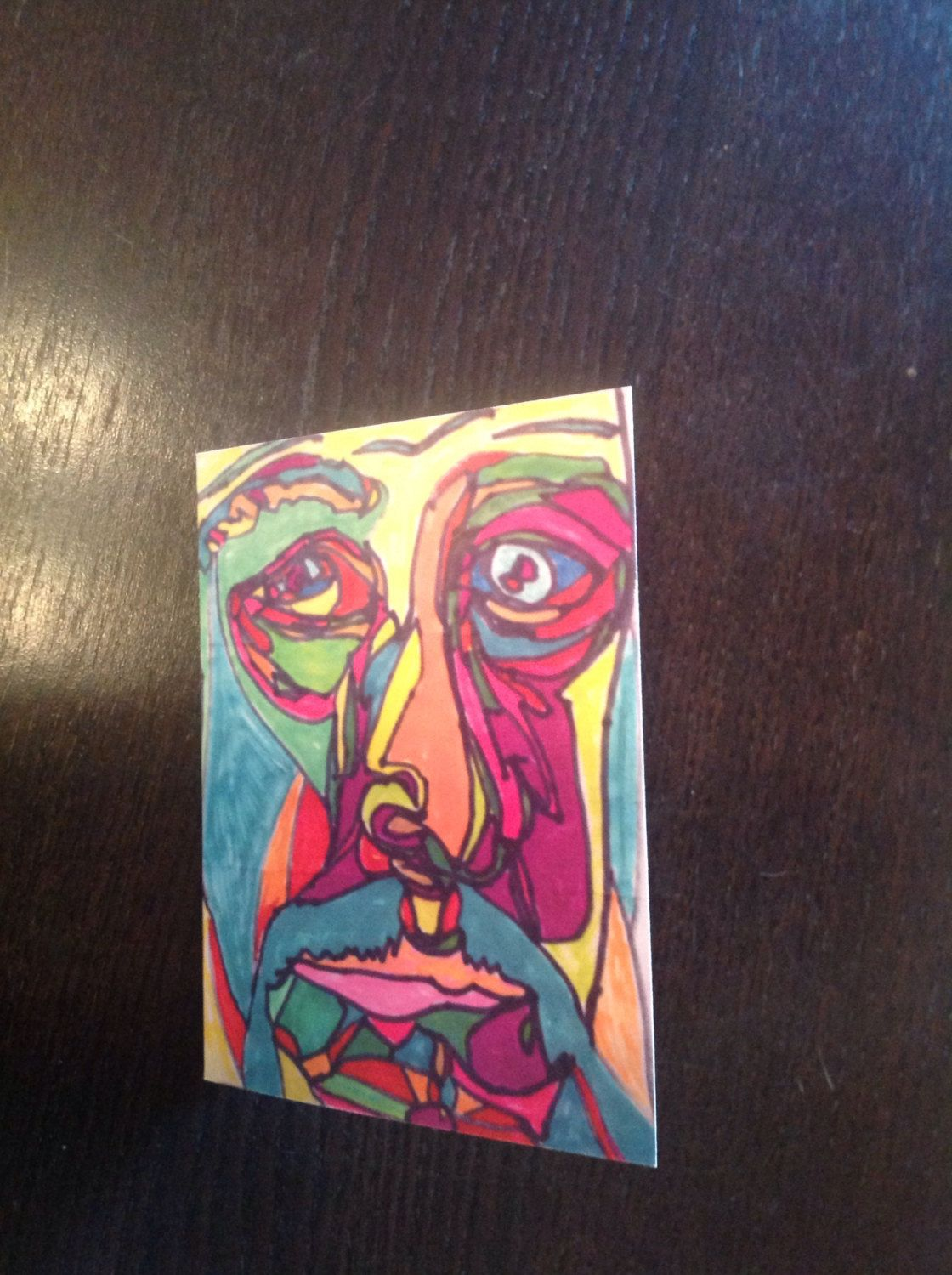 Picasso Print Greeting Card By Ruxpinsrags On Etsy Greeting Cards