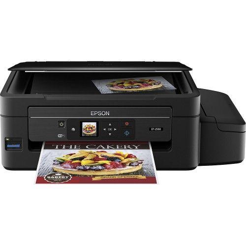 Epson Expression Et 2550 Ecotank Wireless All In One Printer Black C11ce91201 Best Buy Printer Epson Epson Ecotank