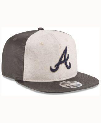 official photos a95ba a72f1 New Era Atlanta Braves Vintage Waxed 9FIFTY Snapback Cap - Gray Adjustable
