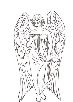 Guardian Angel Coloring Page Supercoloring Com Angel Coloring Pages Nativity Coloring Pages Coloring Pages