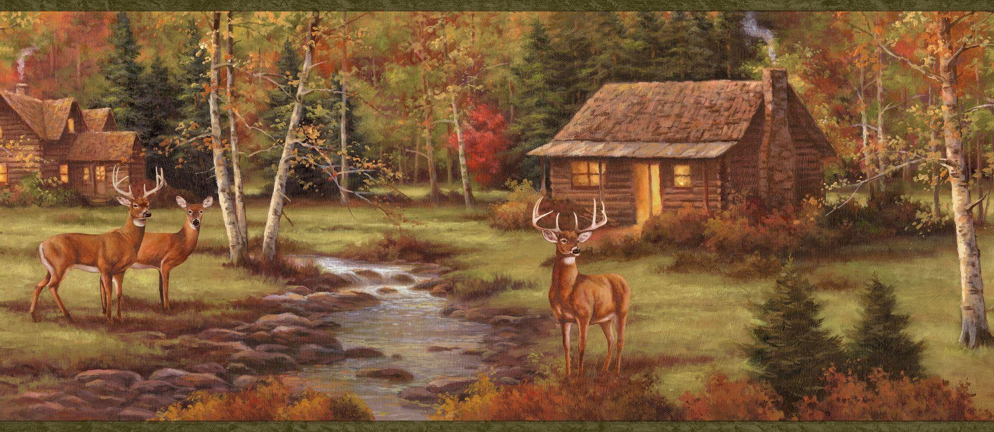 Borders by Chesapeake Lodge Stag Creek Portrait 15' x 8.25