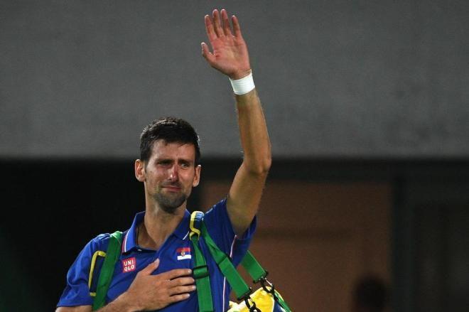 "Eliminado, Djokovic agradece: ""Me senti como se fosse um brasileiro"" Roberto SCHMIDT,AFP/AFP"