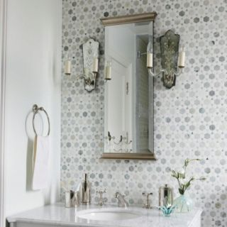 Powder Room Tile Feature Wall Bathrooms In 2019